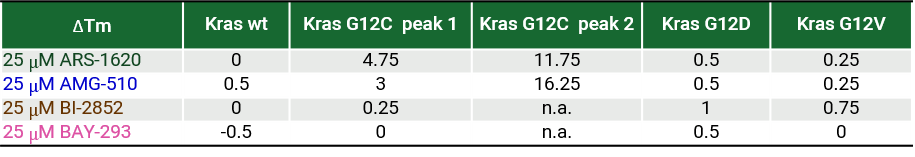 summary of KRas inhibitors for selectivity for G12C
