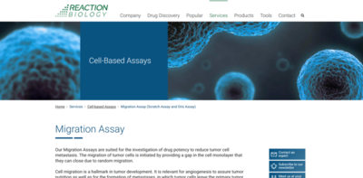migration assay webpage